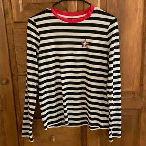 Topshop Star Embroidered Stripe Tee